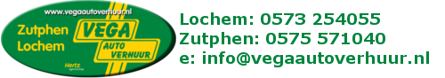 VEGA Autoverhuur Lochem en Zutphen Logo