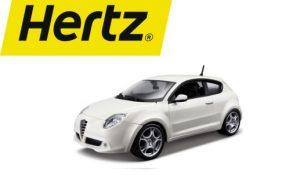hertz logo en auto
